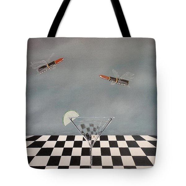 Chella's Martini Tote Bag by John Lyes
