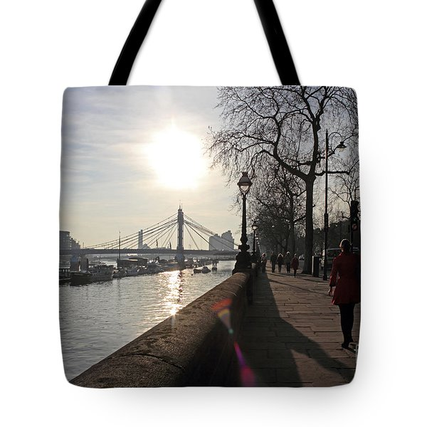 Chelsea Embankment London Uk Tote Bag