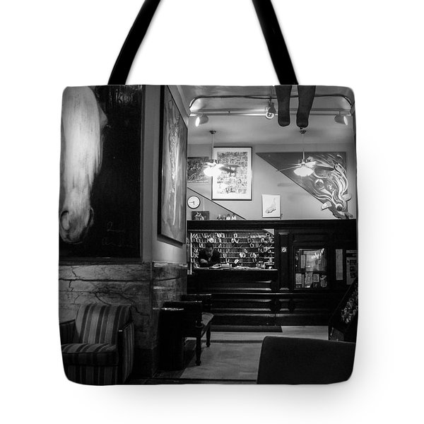 Chelsea Hotel Night Clerk Tote Bag