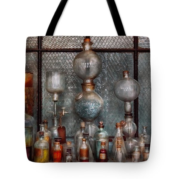 Chemist - The Apparatus Tote Bag by Mike Savad