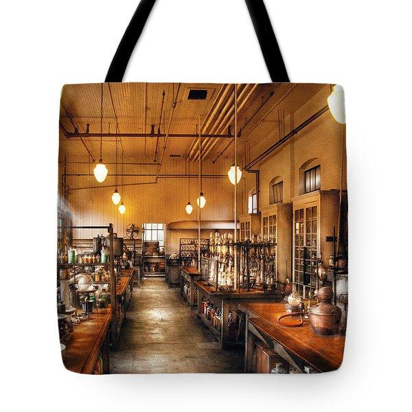 Chemist - The Chem Lab Tote Bag by Mike Savad