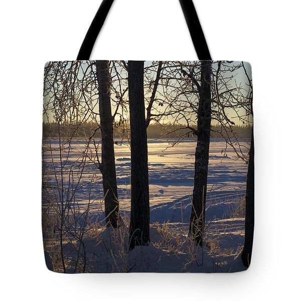 Chena River Trees Tote Bag