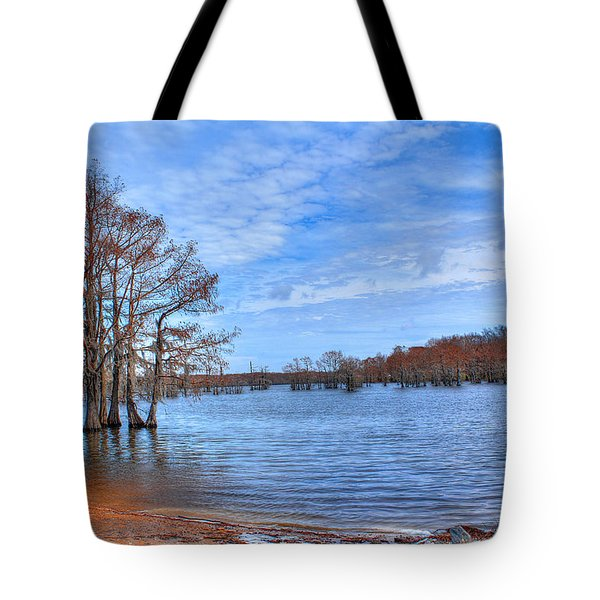 Cheniere Lake Waterscape Tote Bag by Ester  Rogers