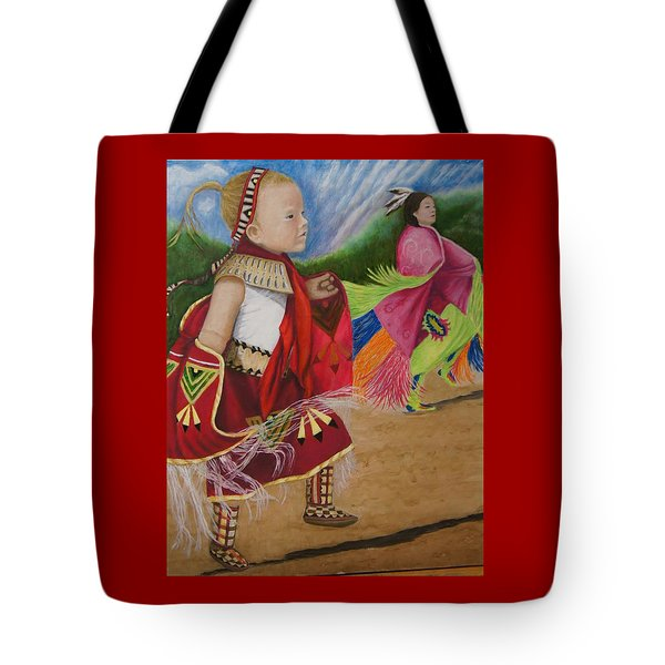Cherokee Ribbon Dancers Tote Bag