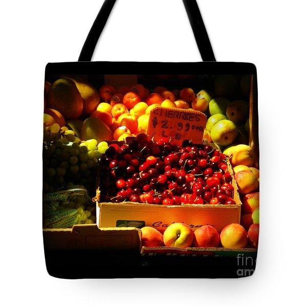 Cherries 299 A Pound Tote Bag by Miriam Danar