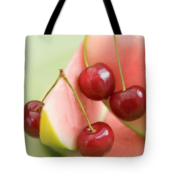 Cherries And Watermelon Tote Bag