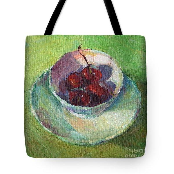 Cherries In A Cup #2 Tote Bag by Svetlana Novikova