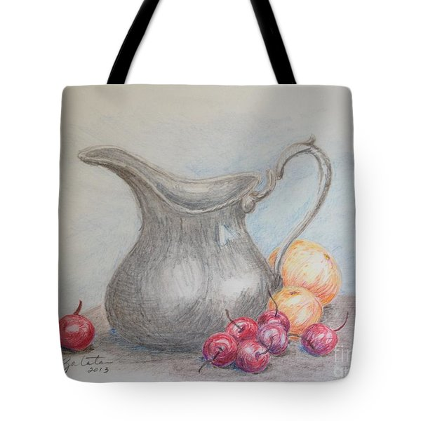 Cherries Still Life Tote Bag