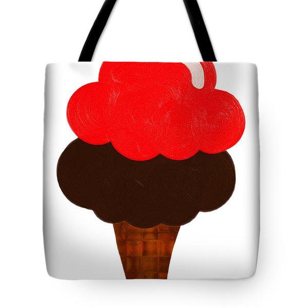 Cherry And Chocolate Ice Cream Tote Bag
