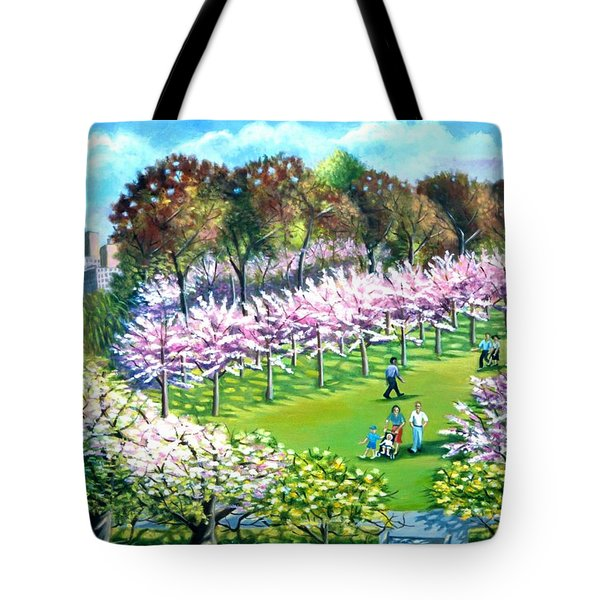 Cherry Blossems At The Brooklyn Botanical Garden Tote Bag