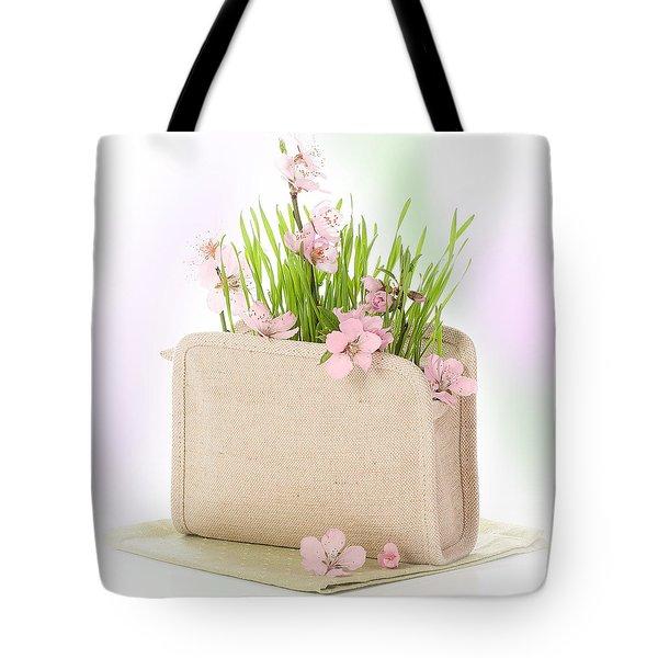 Cherry Blossom Tote Bag by Amanda Elwell