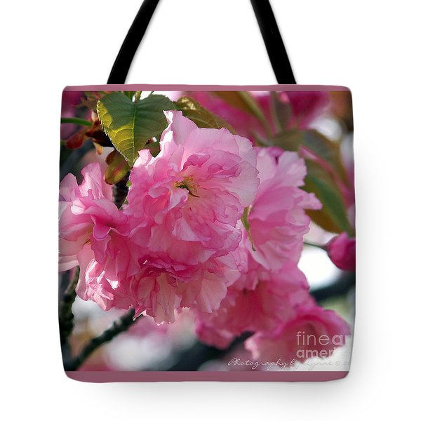 Tote Bag featuring the photograph Cherry Blossom by Gena Weiser