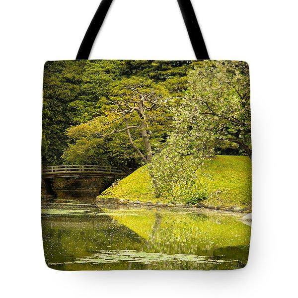 Cherry Blossom Japanese Garden Tote Bag