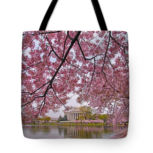 Cherry Blossom Tree Tote Bag by Mitch Cat