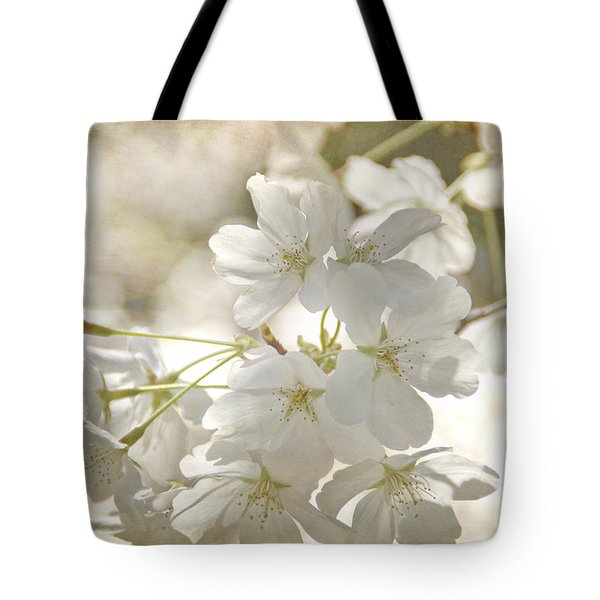 Cherry Blossoms Tote Bag by Peggy Hughes