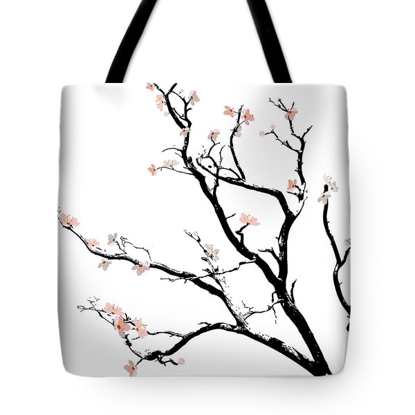 Cherry Blossoms Tree Tote Bag by Gina Dsgn