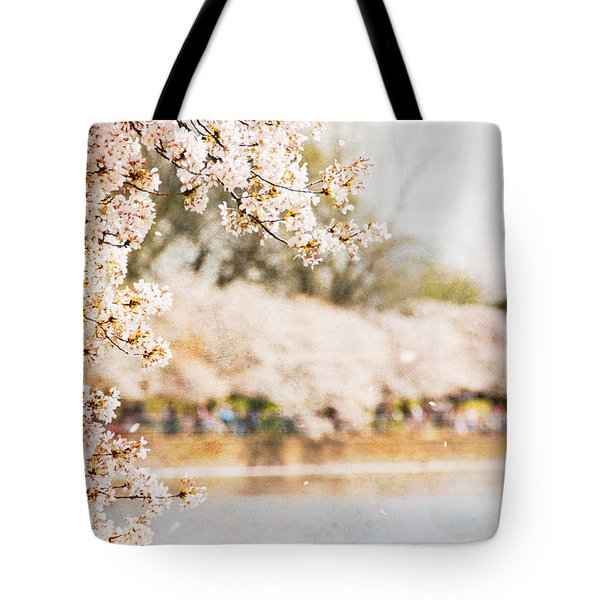 Tote Bag featuring the photograph Cherry Blossoms In Washington Dc by Vizual Studio