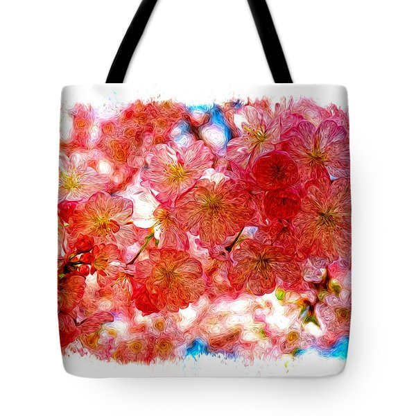 Cherry Blossums Tote Bag