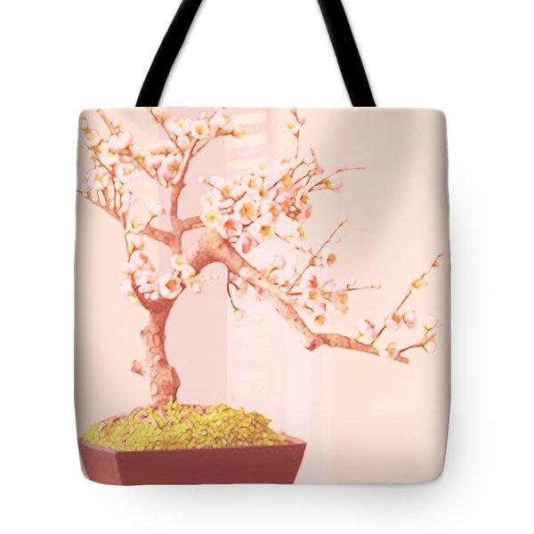 Cherry Bonsai Tree Tote Bag