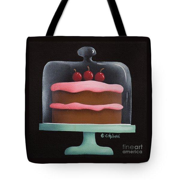 Cherry Chocolate Cake Tote Bag by Catherine Holman