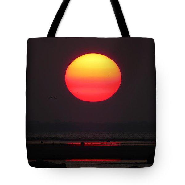 Cherry Drop Sunrise Tote Bag by Dianne Cowen