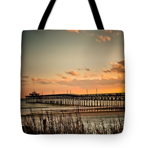 Cherry Grove Pier Myrtle Beach Sc Tote Bag