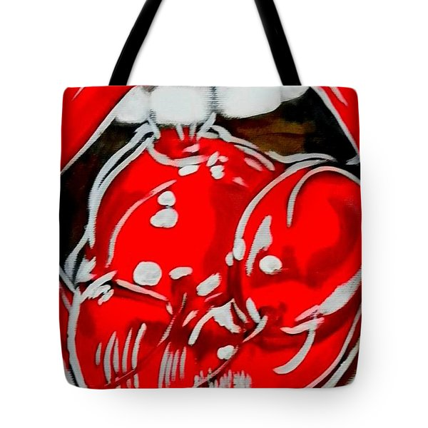 Cherry Lips Tote Bag by Marisela Mungia