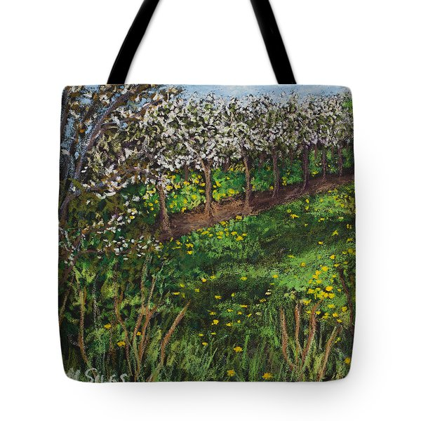 Cherry Orchard Evening Tote Bag