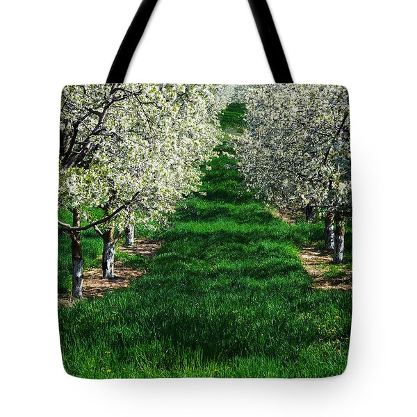 Cherry Orchard Morning Tote Bag