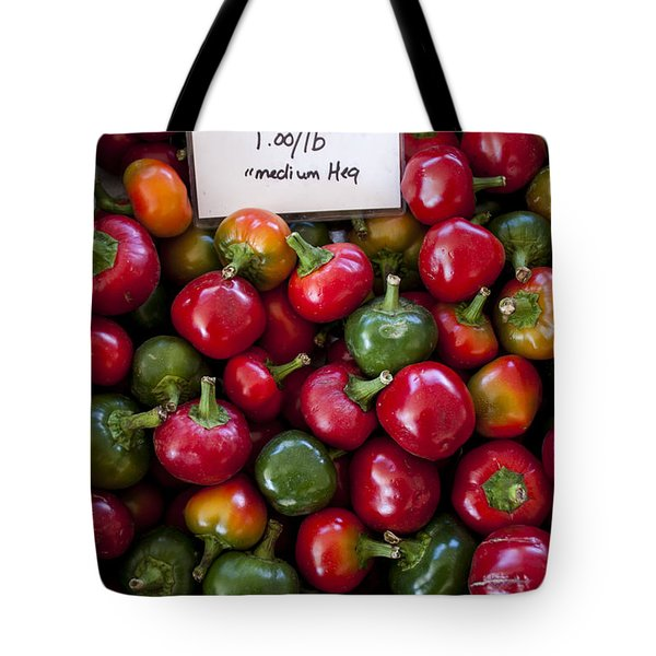 Cherry Peppers Tote Bag by Janice Rae Pariza