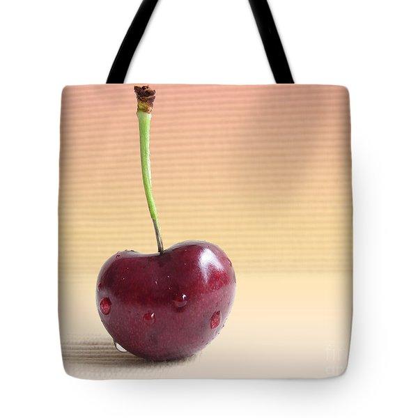 Cherry Portrait Two Tote Bag by Arlene Carmel