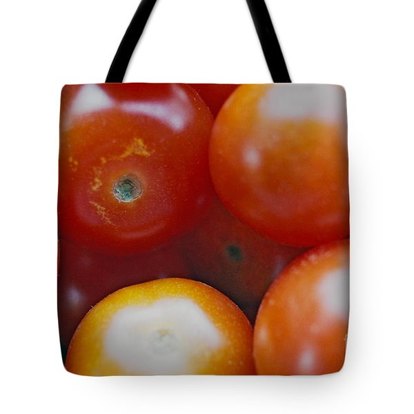 Tote Bag featuring the photograph Cherry Tomatoes by Cassandra Buckley