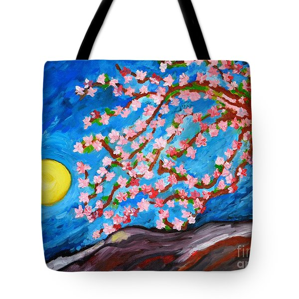 Cherry Tree In Blossom  Tote Bag by Ramona Matei