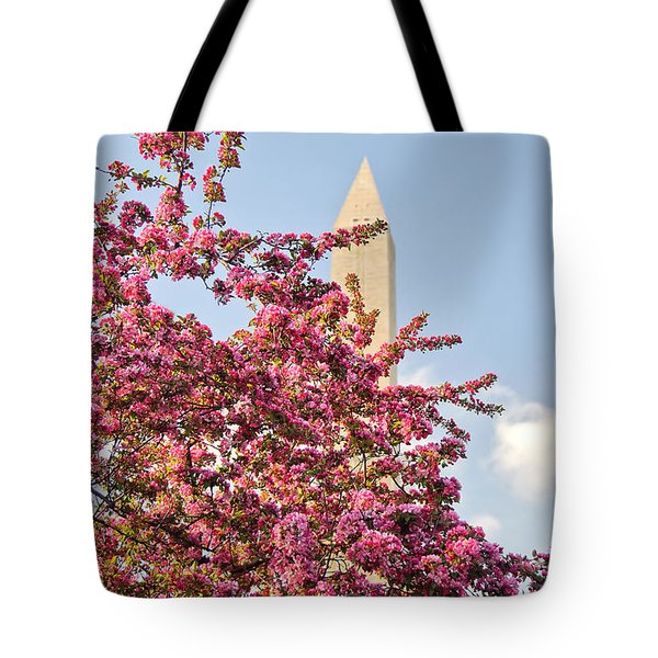 Cherry Trees And Washington Monument One Tote Bag