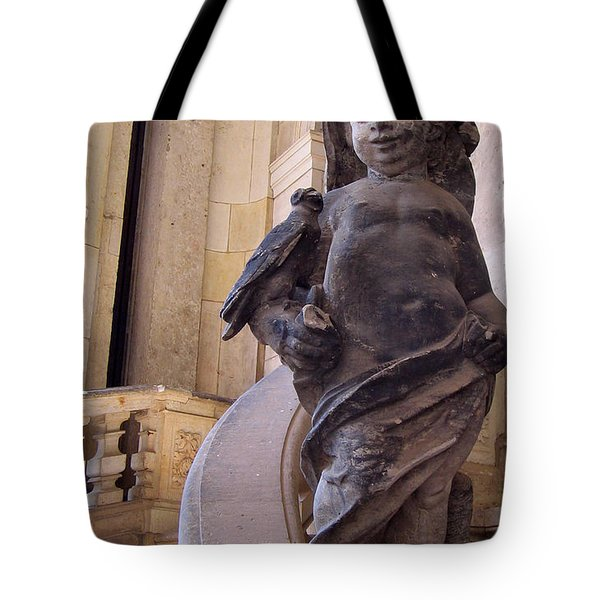 Tote Bag featuring the photograph Cherub At The Entrance Of Zwinger Palace - Dresden Germany by Jordan Blackstone