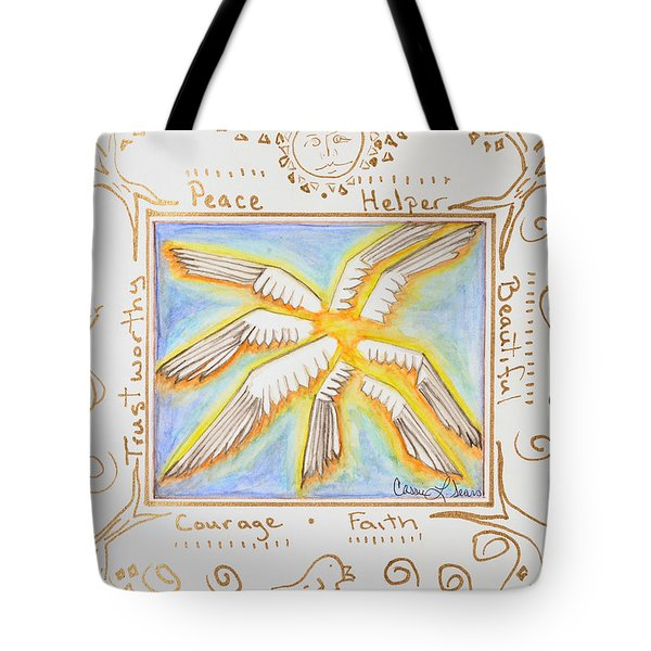 Tote Bag featuring the painting Cherubim by Cassie Sears