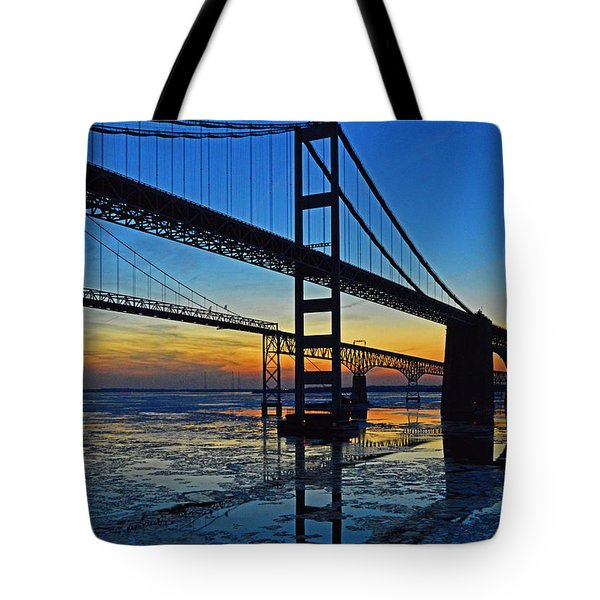 Chesapeake Bay Bridge Reflections Tote Bag