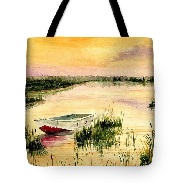 Chesapeake Marsh Tote Bag by Melly Terpening