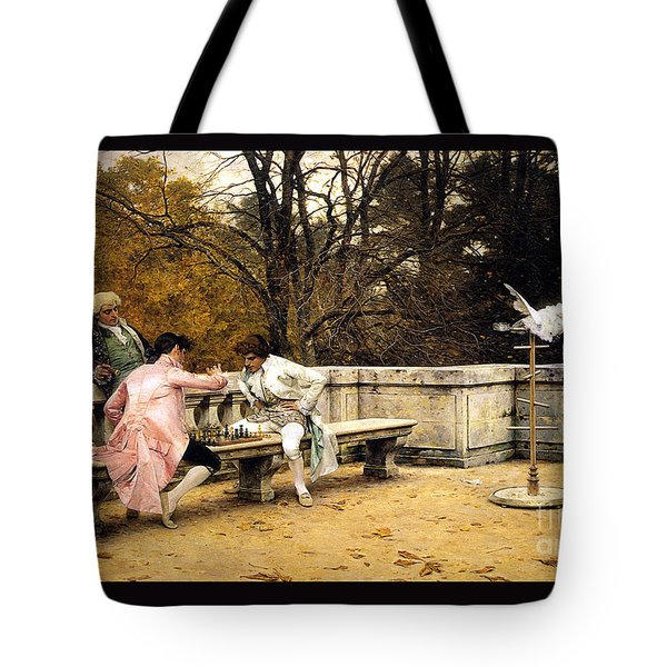 Chess In The Park Tote Bag by Pg Reproductions