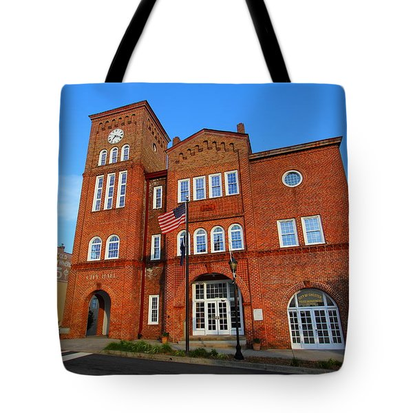 Chester City Hall Tote Bag