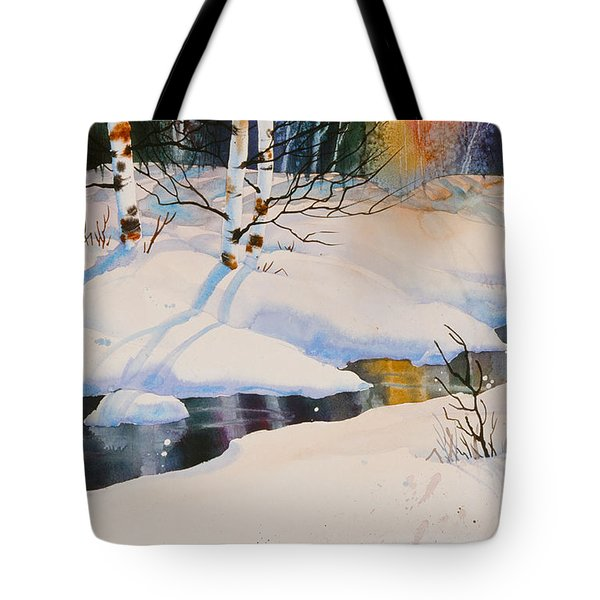 Chester Creek Shadows Tote Bag by Teresa Ascone