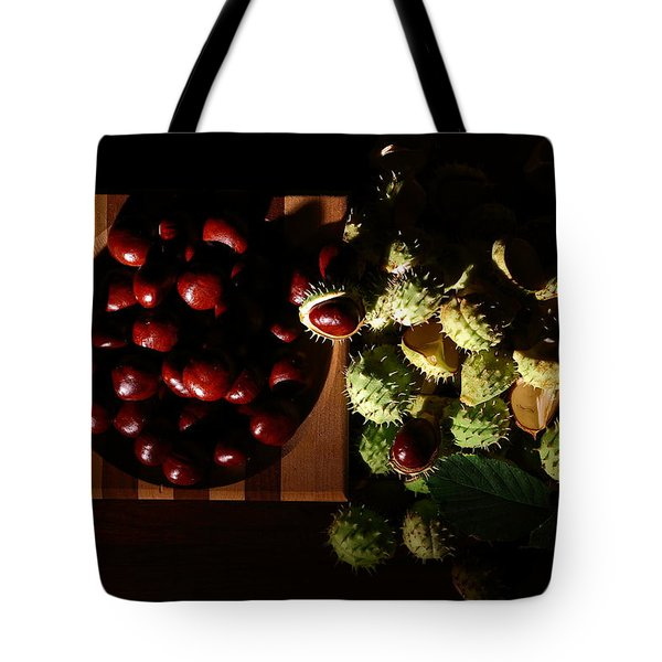 Tote Bag featuring the photograph Chestnuts by David Andersen