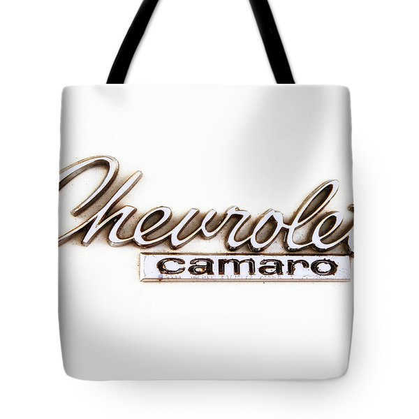 Chevrolet Camaro Emblem Tote Bag by Jerry Fornarotto