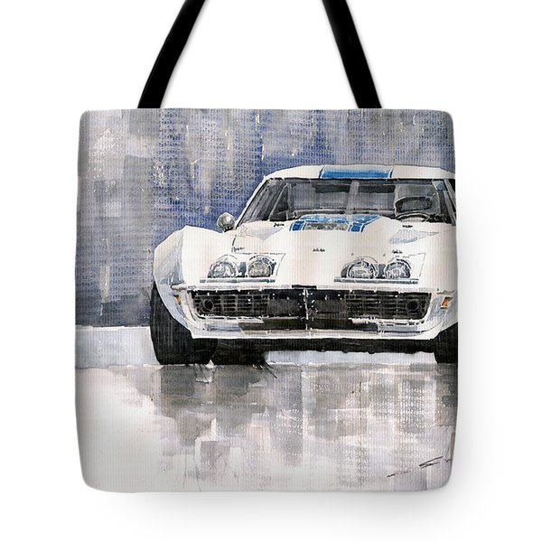 Chevrolet Corvette C3 Tote Bag by Yuriy  Shevchuk