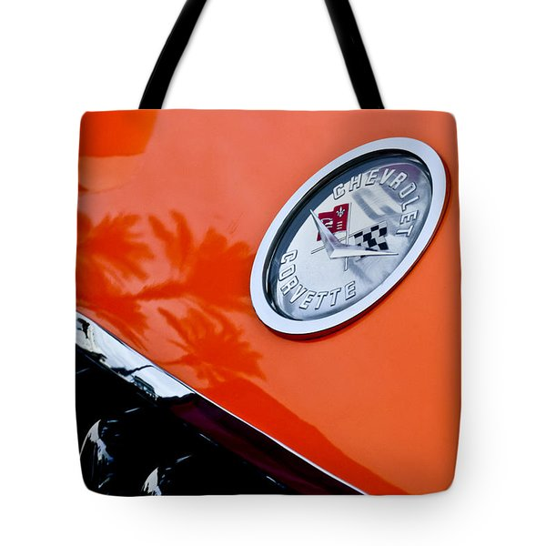 Chevrolet Corvette Hood Emblem Tote Bag by Jill Reger