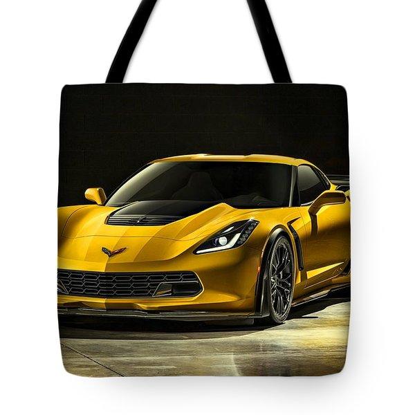 Chevrolet Corvette Z06  Tote Bag by Movie Poster Prints
