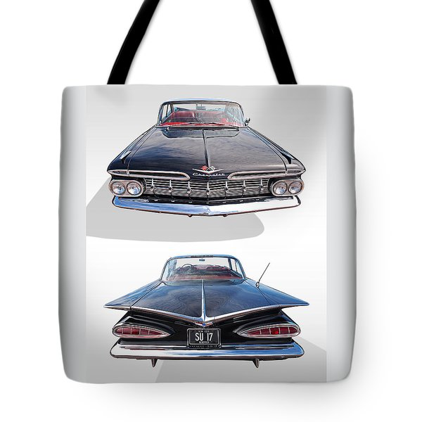 Chevrolet Impala 1959 Front And Rear Tote Bag