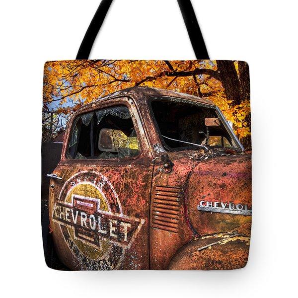 Chevrolet Usa Tote Bag by Debra and Dave Vanderlaan