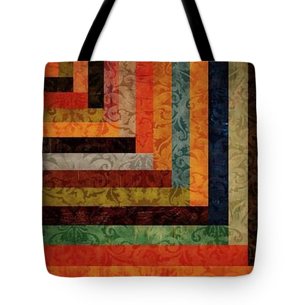Chevron Brocade Triptych Tote Bag by Michelle Calkins