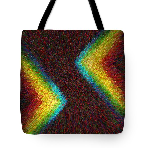 Chevron Double Rainbow C2014 Tote Bag
